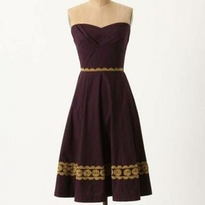 Anthropologie GFS Aubergine Sky Dress